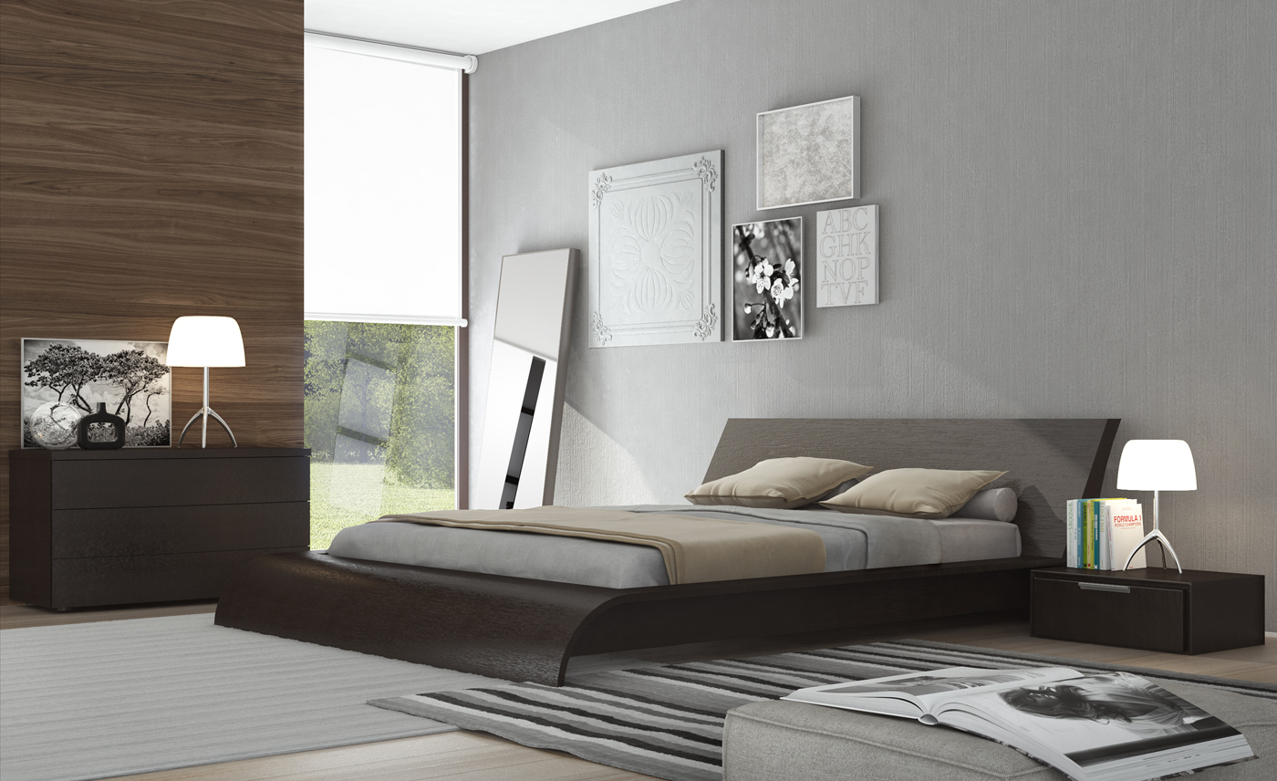 Tall bed frame queen - Waverley Contemporary Platform Bed Frame